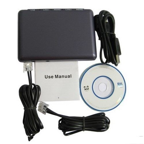 Modem και καταγραφικό κλήσεων 2 καναλιών - USB Call Recorder 2 Lines