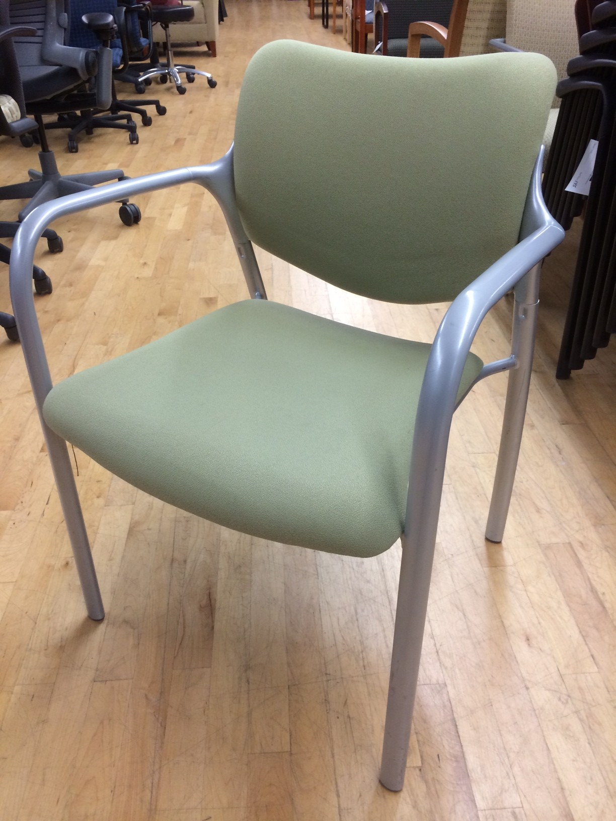 herman miller stacking chairs folding chair with shade cover pre owned side lexington e22 aside
