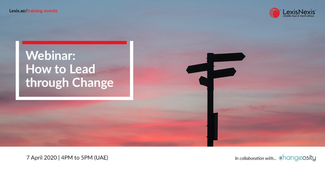 Webinar: How to Lead Through Change | 7 April 2020 | 4PM to 5PM