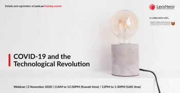 Webinar | COVID-19 and the Technological Revolution | 2 November October 2020 | 11AM to 12:30PM (Kuwait) / 12PM to 1:30PM (UAE)