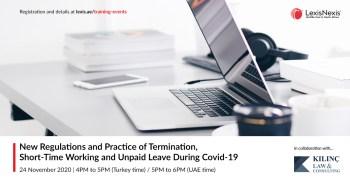 Webinar | TÜRKİYE'DE KİŞİSEL VERİLERİN KORUNMASI HUKUKU (Turkish Protection of Personal Data Law) | 1 December 2020 | 4PM to 5PM (Turkey time)
