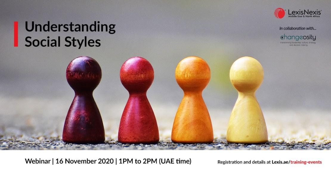 Webinar | Understanding Social Styles | 16 November 2020 | 1PM to 2PM