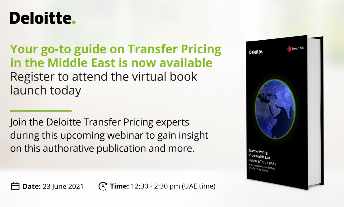 Virtual Book Launch   Transfer Pricing in the Middle East   23 June 2021   12:30PM to 2PM (UAE time)