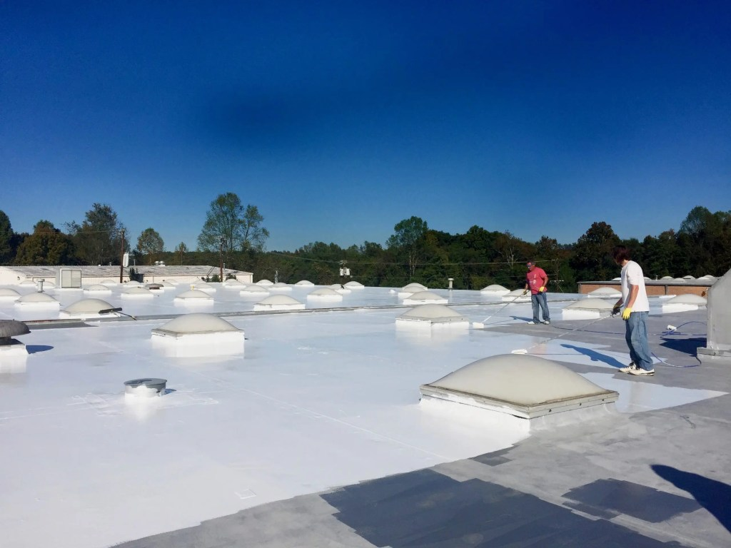 EPDM with EnergyGuard Aromatic Polyurethane and EnergyGuard Silicone Coating