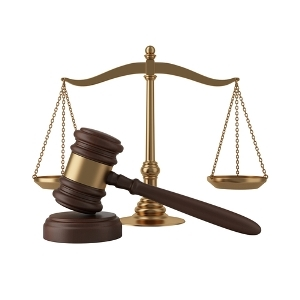 gavel and scales of