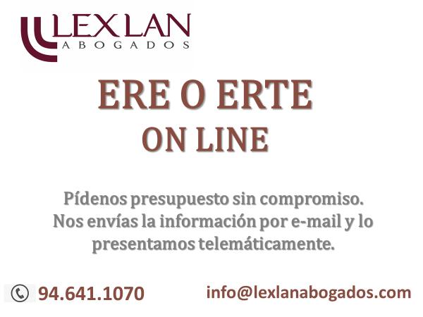 Te ayudamos tele trabajando: ERE o ERTE on LINE.