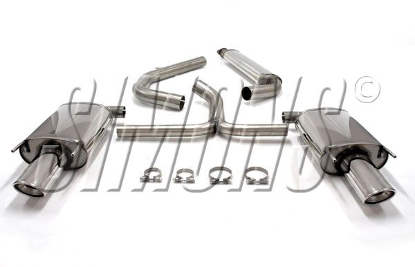 Simons Duplex Stainless steel Exhaust system 90x120mm oval