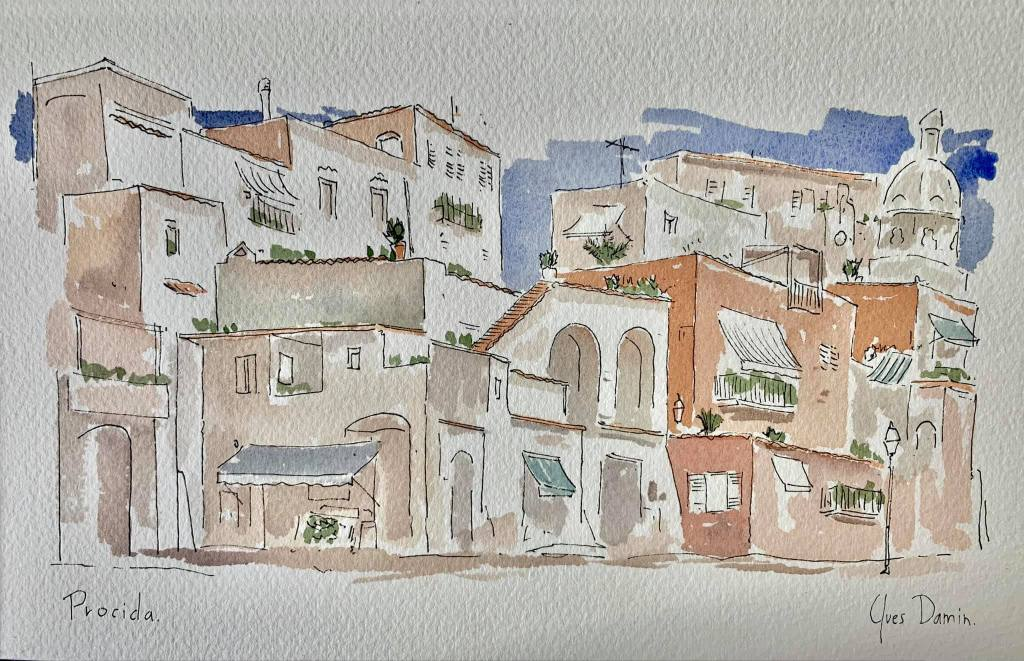 Italy watercolors