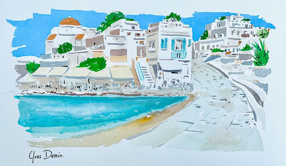 Mykonos painting