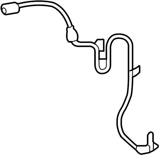 2007 Lexus RX400h Abs wheel speed sensor wiring harness