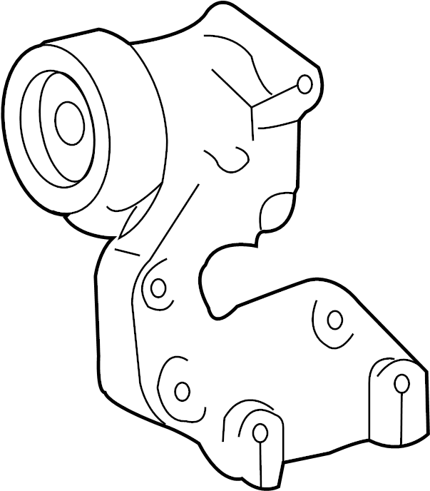2013 Lexus RX350 Accessory Drive Belt Tensioner Assembly