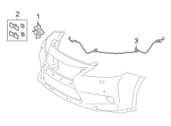 2013 Lexus ES300h Sensor. 2013-15, ELECTRICAL COMPONENTS