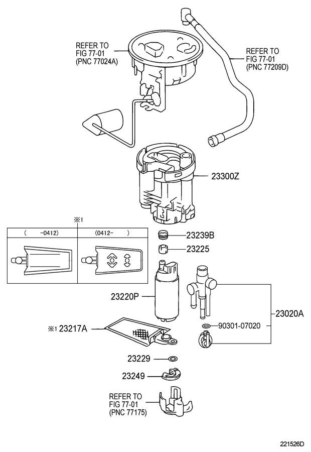 2004 LEXUS LS430 FUEL INJECTION SYSTEM