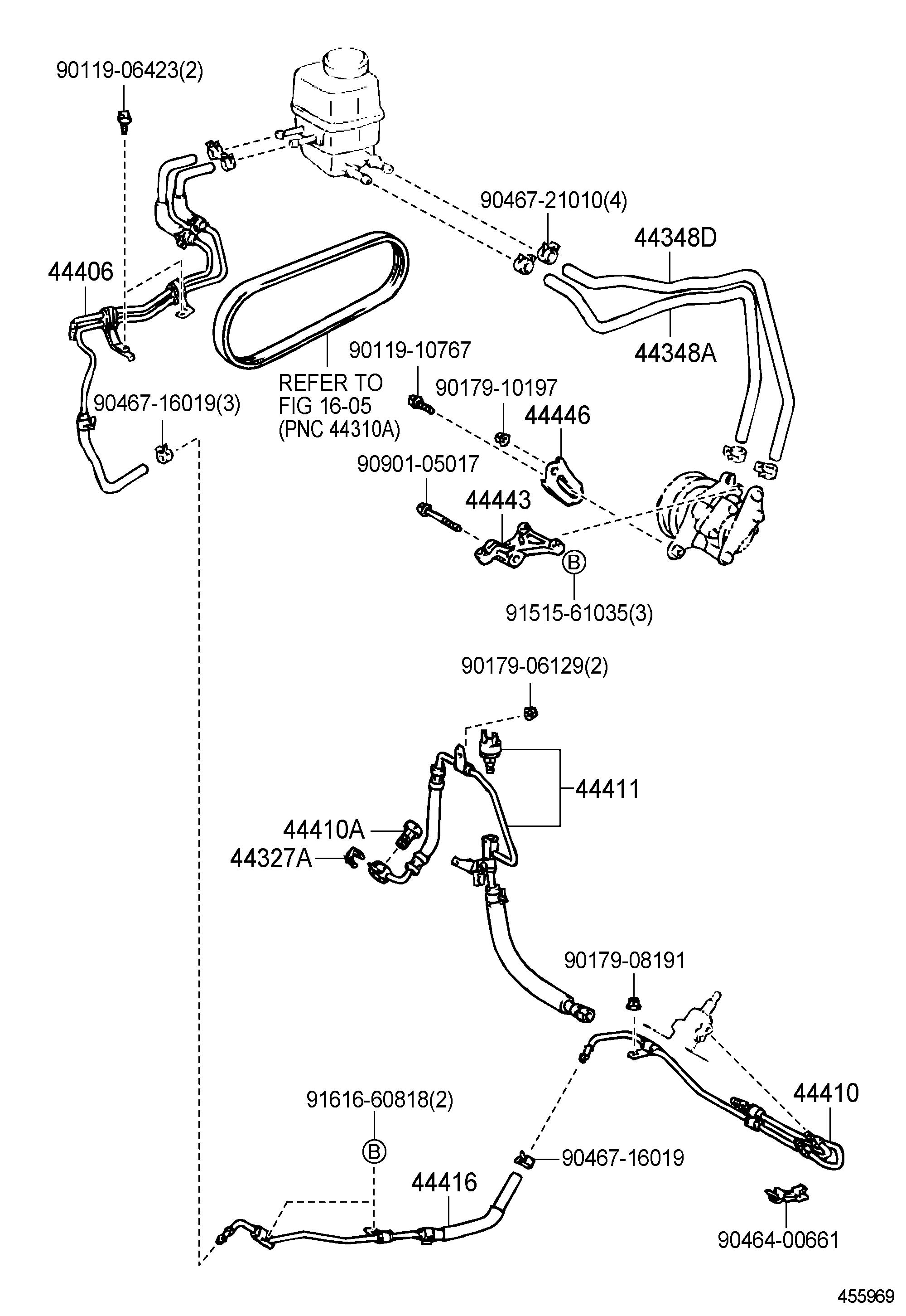 Diagram Furthermore Lexus Power Steering Pump On 1998