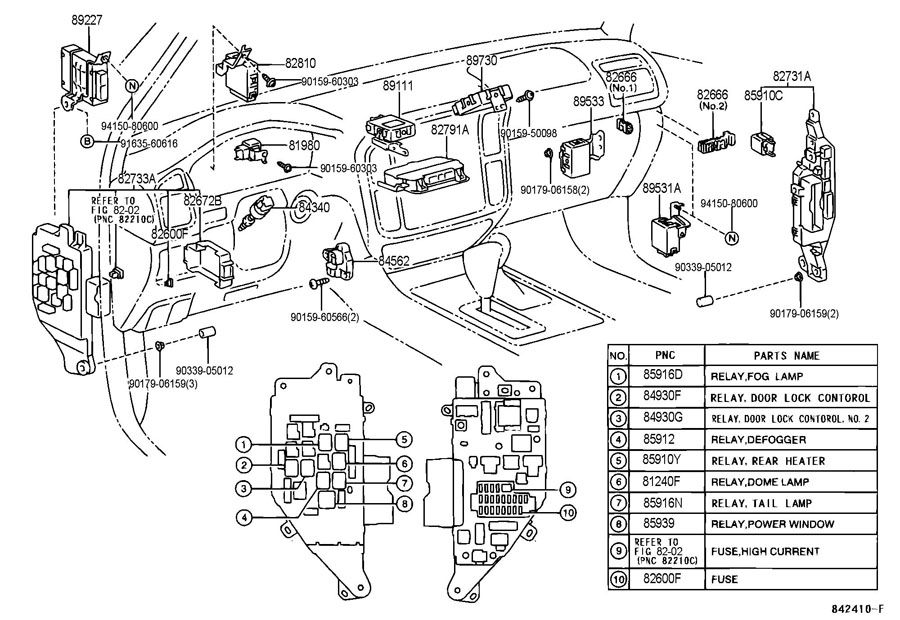 LEXUS LX470 SWITCH & RELAY