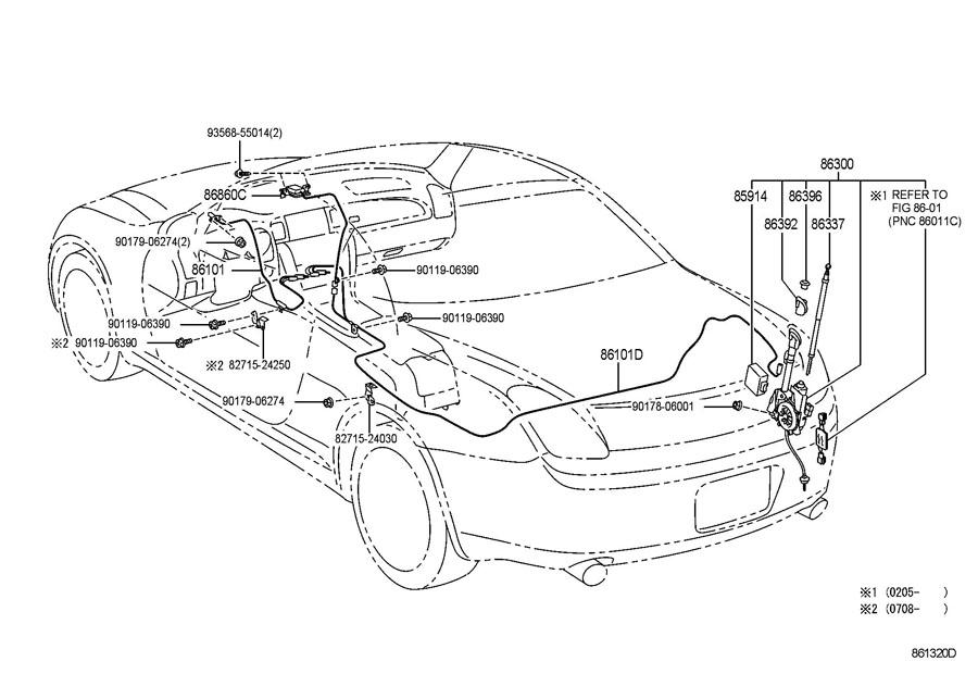 Lexus Sc430 Service Antenna Motor : Selection Test Mending