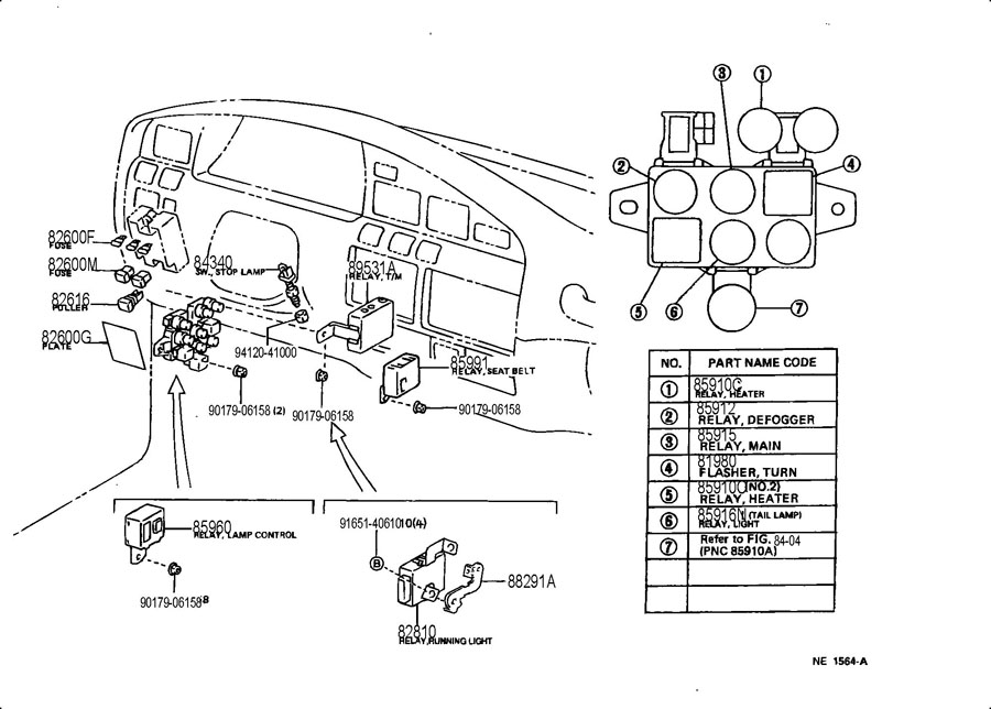 1996 Lexus Lx450 Fuse Box. Lexus. Auto Fuse Box Diagram