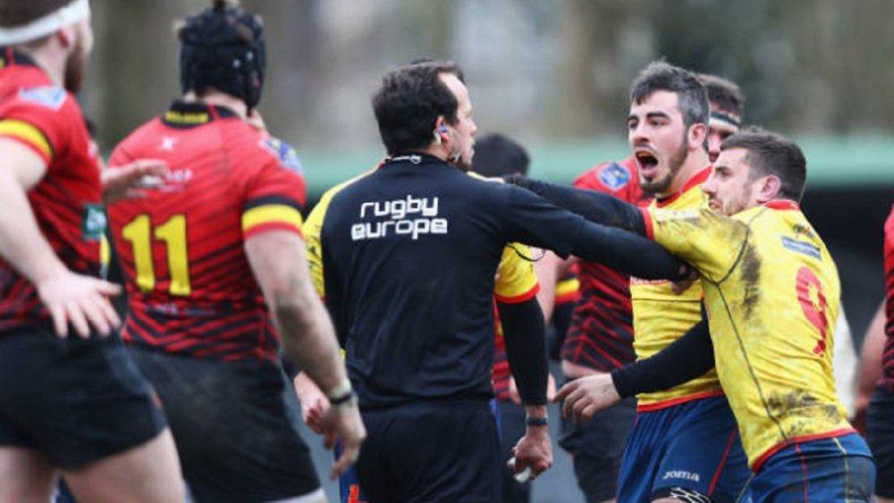 coupe du monde retrait de points la belgique l'espagne et la roumaine rugby international xv de départ 15