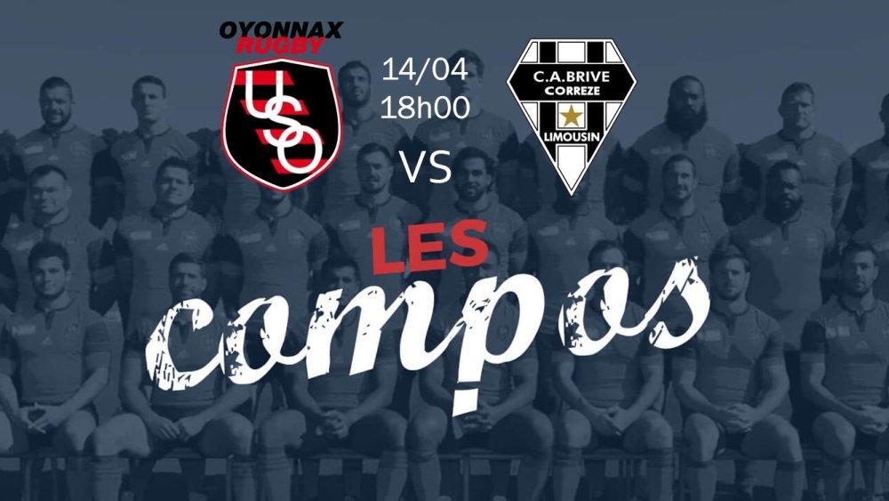 oyonnax v brive compositions équipes rugby france top 14 xv de départ 15
