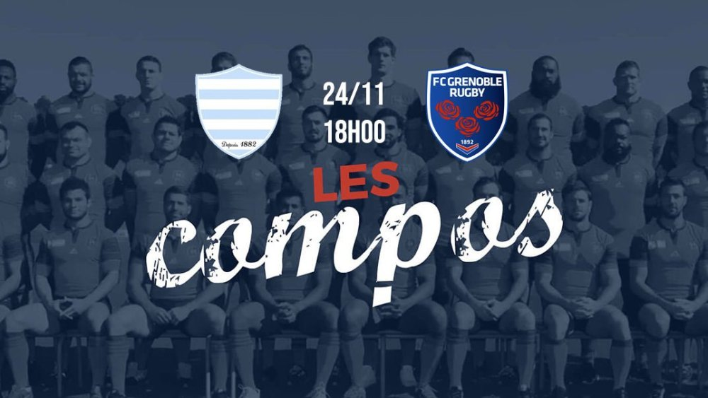 les formations racing 92 vs grenoble xv de départ top 14 rugby