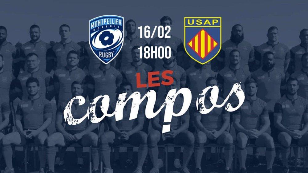 les formations montpellier vs perpignan rugby france xv de départ 15