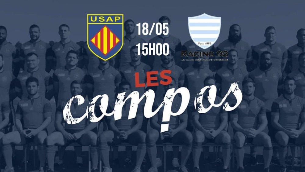 les formations perpignan vs racing 92 rugby france xv de départ 15