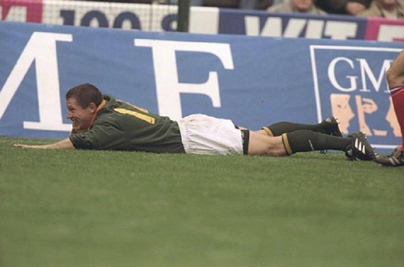 afrique du sud l'ailier champion du monde en 1995 james small est décédé rugby international xv de départ 15