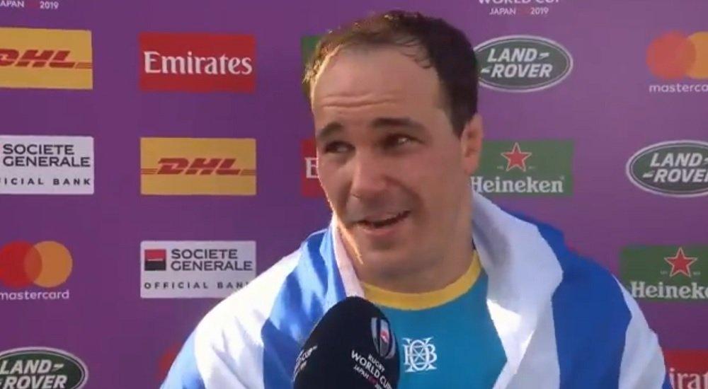 vidéo la belle émotion du capitaine de l'uruguay juan gaminara coupe du monde rugby xv de déaprt 15
