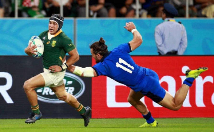 afrique du sud kolbe titulaire face au japon rugby coupe du monde xv de départ 15