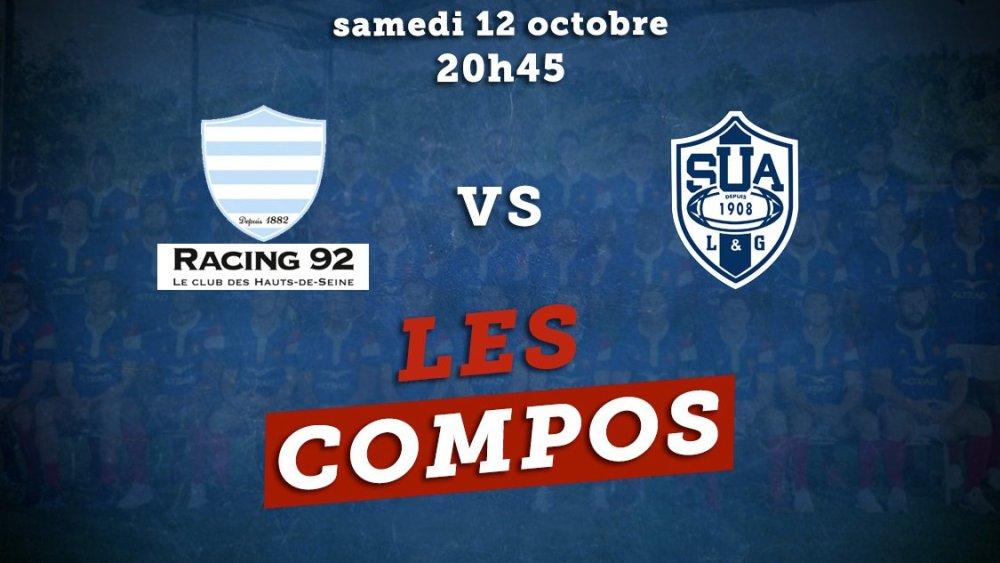 les compos racing 92 vs agen rugby france xv de départ 15