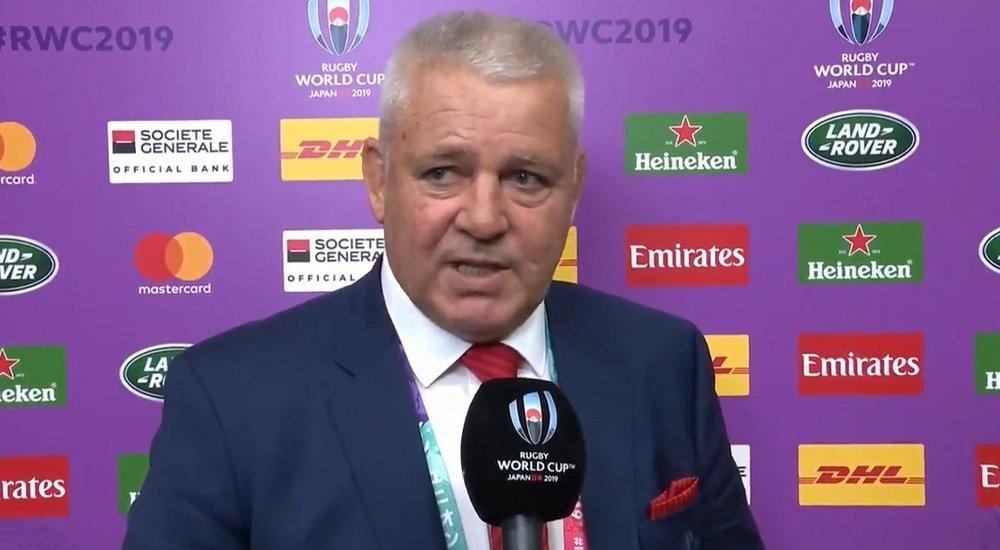 warren gatland la meilleure équipe a perdu aujourd'hui rugby coupe du monde xv de départ 15