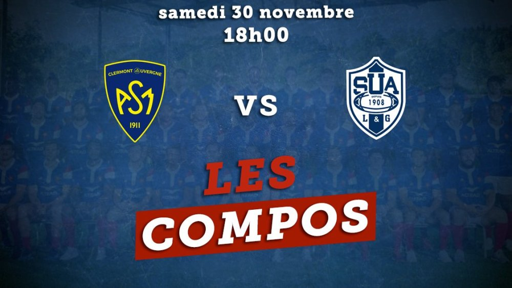top 14 les compositions clermont vs Agen rugby france xv de départ 15