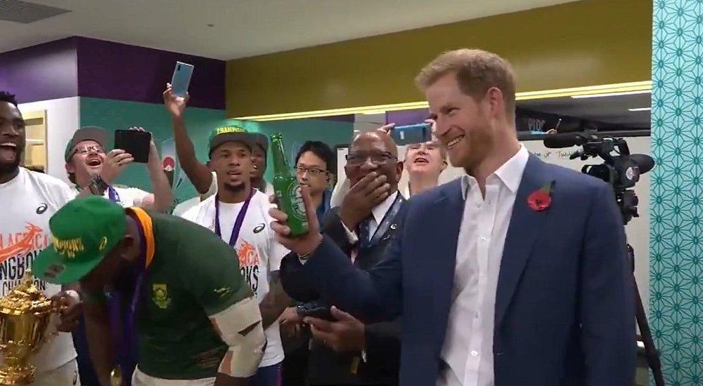 vidéo le prince harry chambré par françois steyn rugby coupe du monde xv de départ 15