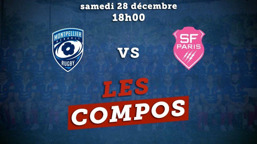 les équipes montpellier vs stade français rugby france xv de départ 15