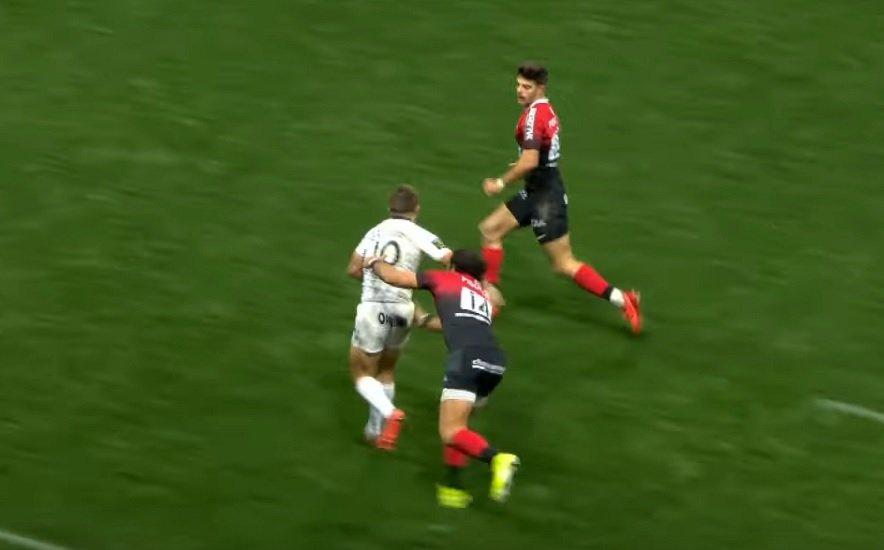 top 14 vidéo carbonel efface huget et ntamack rugby france xv de départ 15