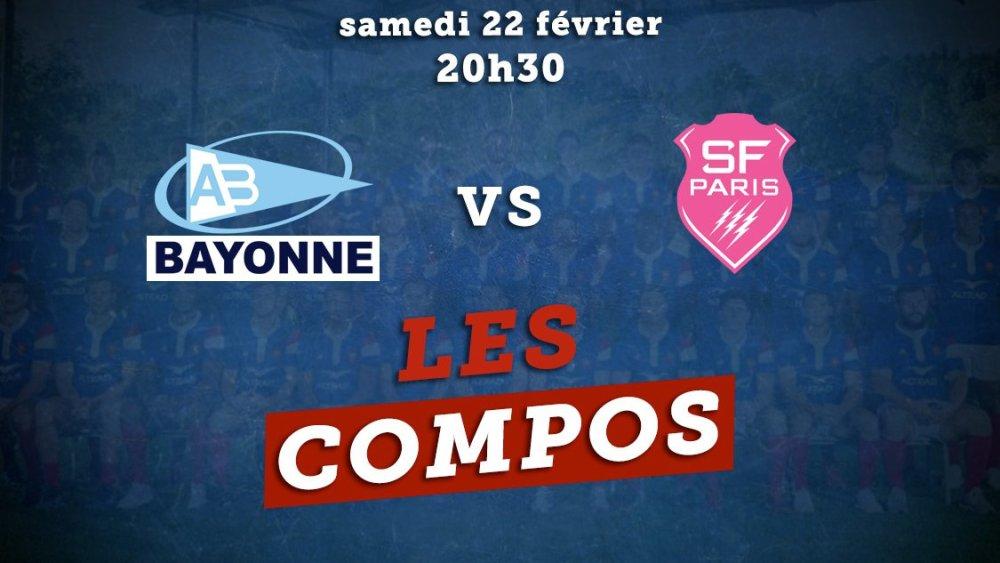 top 14 les équipes bayonne vs stade français paris rugby france xv de départ 15