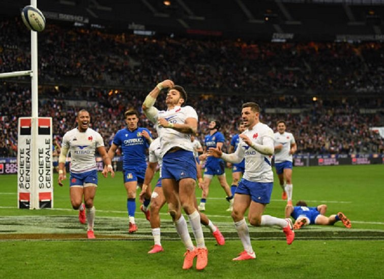victoire bonifiée pour le xv de france xv de départ 15 rugby 6 nations