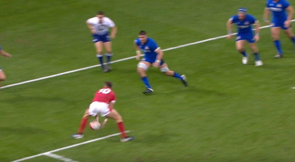 vidéo la passe géniale de dan biggar rugby 6 nations vx de départ 15