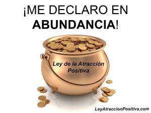 """Decretos Metafísicos: """"Me Declaro en Abundancia"""""""