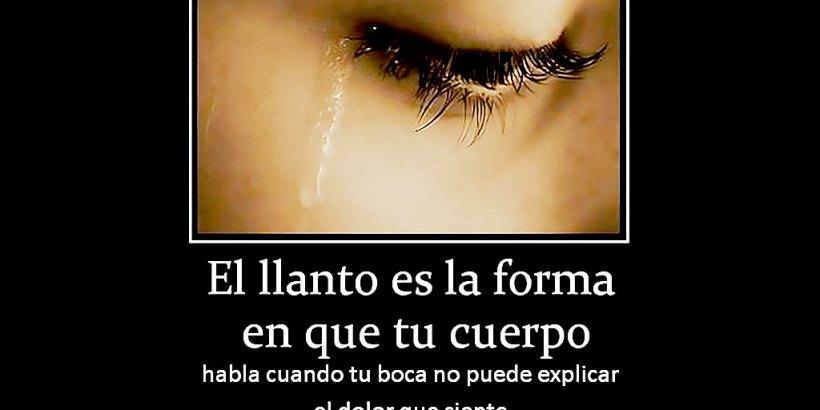 """""""El llanto es la forma en que tu cuerpo habla cuando tu boca no puede explicar el dolor que siente."""""""