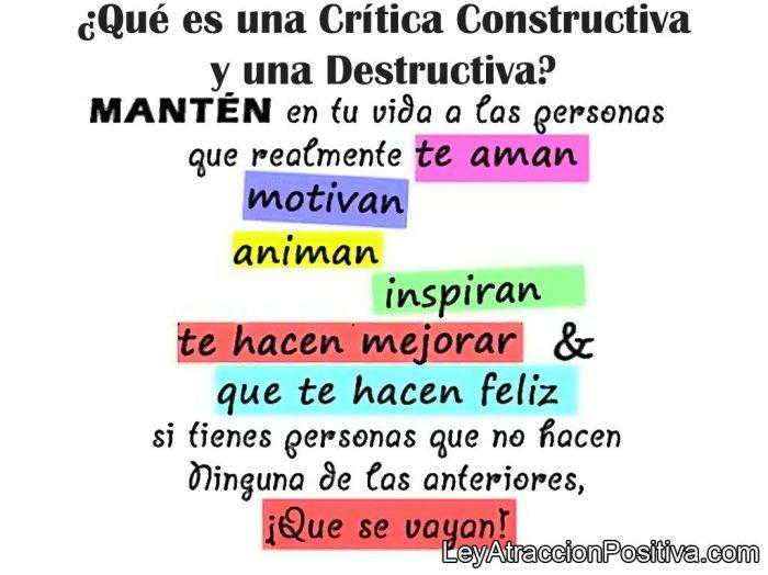 ¿Qué es una Crítica Constructiva y una Destructiva?