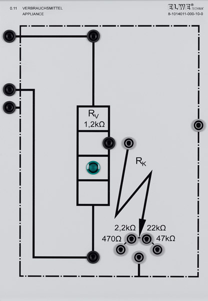 P 0.11 Appliance with resistors for short circuit simulation