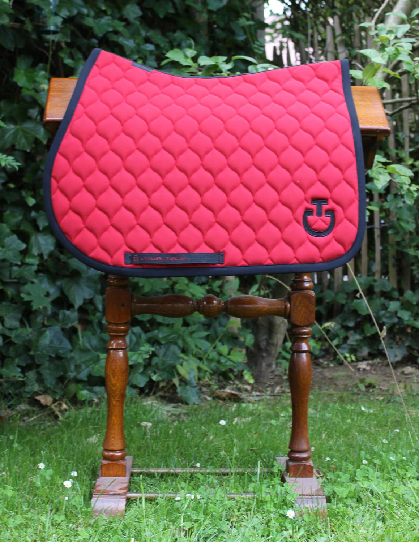 cavalleria toscana rouge tapis de selle