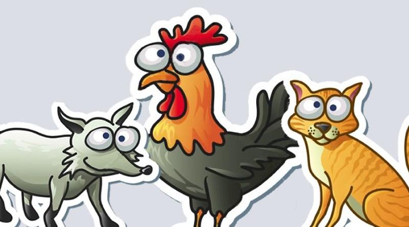 Fábula: El gato, el gallo y el zorro