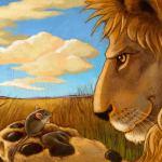 El león y el ratón  (Fábula corta)
