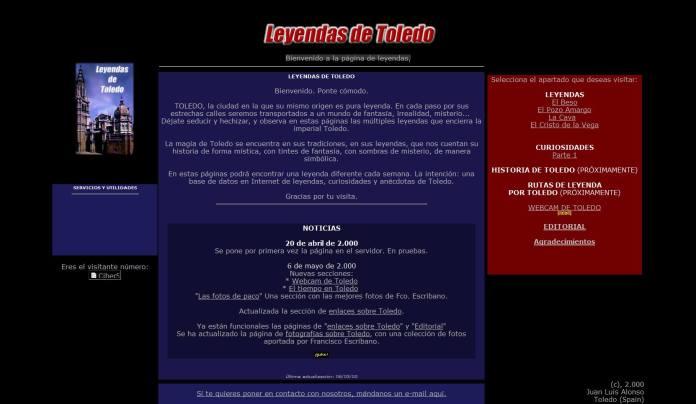 LeyendasdeToledo, aspecto en el año 2000