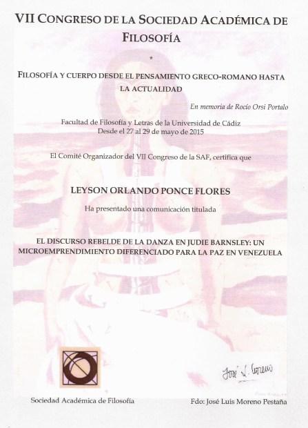 2015: VII Congreso Sociedad Académica de Filosofía