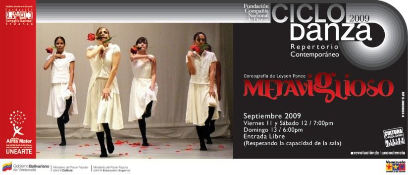 2009/2012:  «MERAVIGLIOSO»: Compañía Nacional de Danza Venezuela