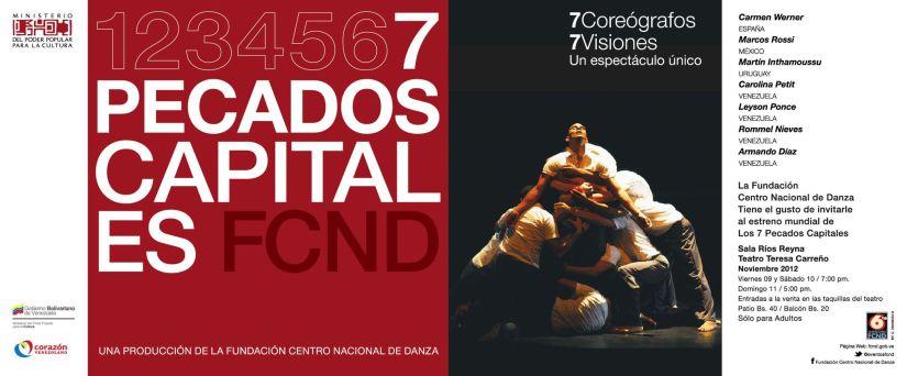 2014: «Los 7 Pecados Capitales: La Gula» (Fundación Compañía Nacional de Danza de Venezuela)
