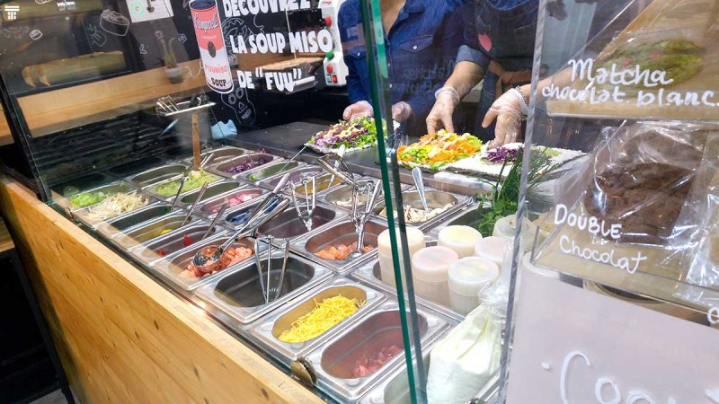 Bar burrito asiatique